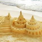 sandburg am strand — Stockfoto