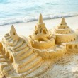 Sand Castle on the Beach — Foto de Stock