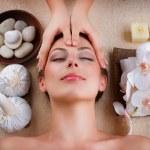 Facial Massage in Spa Salon — Stock Photo