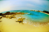 Seascape fisheye view. Isla Mujeres, Mexico — Stock Photo