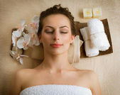 Spa Woman in Beauty Salon — Stock Photo