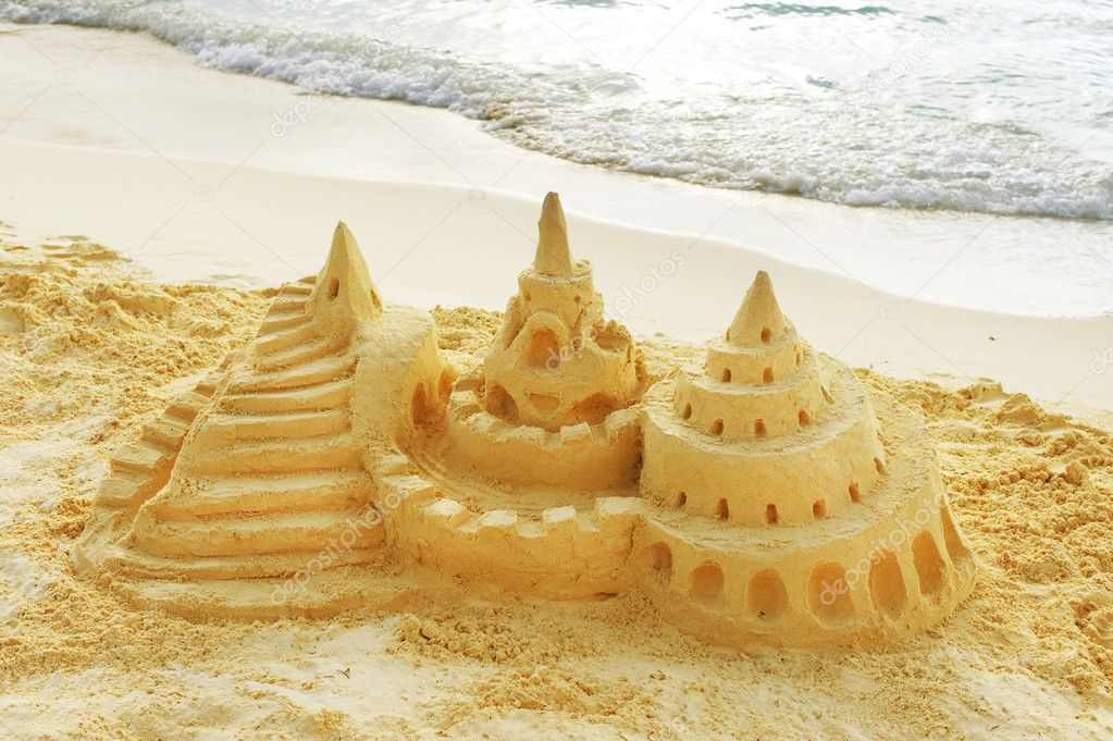 Sand Castle on the Beach  Stock Photo #11104133