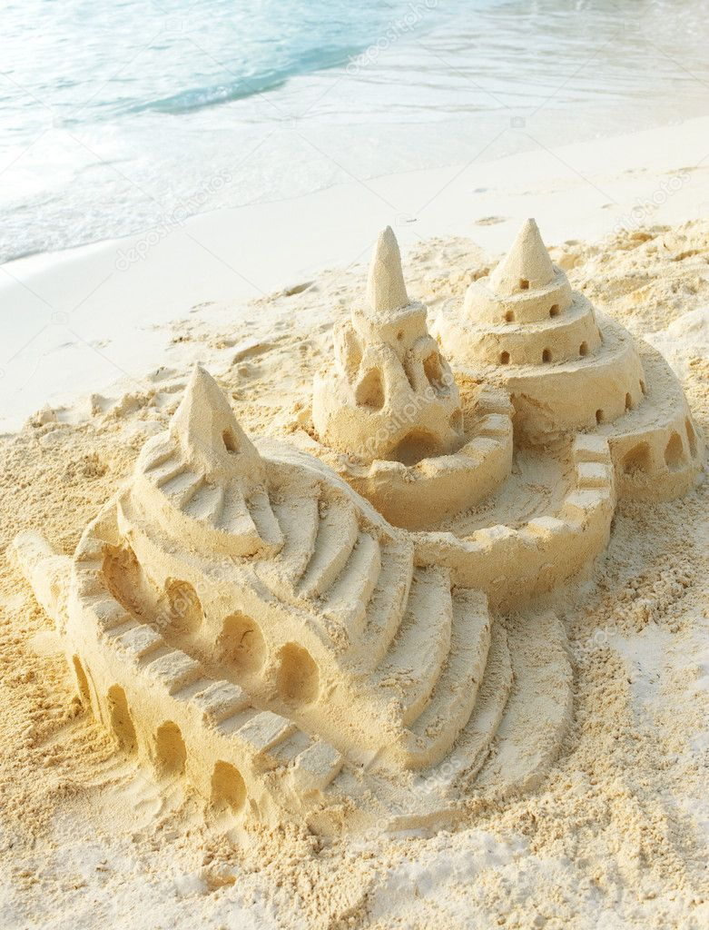 Sand Castle on the Beach — Stock Photo #11104138