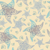 Marine pattern — Stock Vector