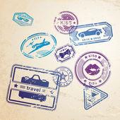 Grunge stamps design elements — Stock Vector