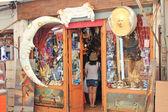 Souvenir shop on plazza in Venice — Stock Photo