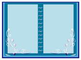 Vektorové izolované modré notebook — Stock vektor