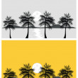 Tropical banners and backgrounds — Stock Vector
