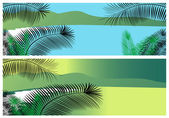 Tropical sea banners — Stock Vector
