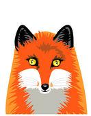 Vector isolated fox — Stock Vector