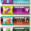 Stock Vector: Set of colorful business banners