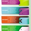 Vector colorful banners with number signs — Vector de stock #10781332
