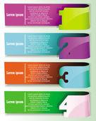 Vector coloridos carteles con signos números — Vector de stock