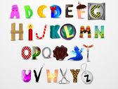 красочные векторный шрифт сartoon. различный дизайн письма — Cтоковый вектор