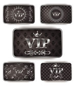 Platinum vip cards with pattern — Stock Vector