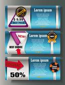 Cartões de web design — Vetorial Stock