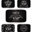 Platinum vip cards with floral pattern — Stock Vector