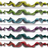 Ornamento de fondo con seis colores diferentes — Foto de Stock