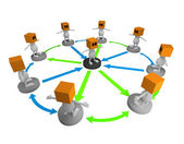 3d Business people network — Stok fotoğraf