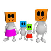 3d Happy family — Stockfoto