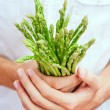 Royalty-Free Stock Photo: Asparagus in chef&#039;s hands