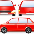 Royalty-Free Stock Vector: Red isolated car silhouette