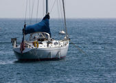 Moored Sailboat — Stock Photo