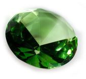 Emerald Green Faceted Gemstone — Stock Photo