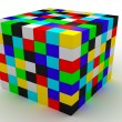 The color isolated cubes - Stock Photo