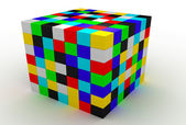 The color isolated cubes — Stock Photo