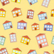 Little funny house seamless pattern — Stock Vector