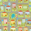 Royalty-Free Stock Vector Image: Town illustration seamless pattern