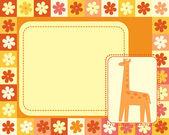 Horizontal frame with giraffe — Stock Vector