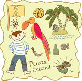 Kid's Pirate Collection — Stock Vector