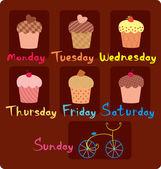 Sweet schedule for the week — Stock Vector