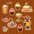 Stock Vector: Coffee break design elements