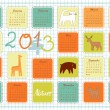 Stock Vector: Eco calendar for year 2013