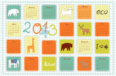 Eco calendar for the year 2013 — Stock Vector