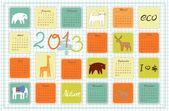 Eco calendar for the year 2013 — Stock Vector