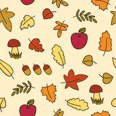 Autumn leafs seamless pattern — Stock Vector