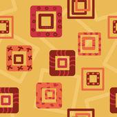 面白い正方形のシームレスなパターン — ストックベクタ