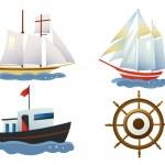 Постер, плакат: A set of ships