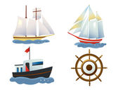 A set of ships — Stock Vector
