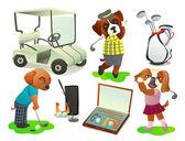 Ensemble de golf — Vecteur