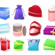 Royalty-Free Stock Vector Image: Gift set