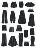 A set of skirts — Vector de stock