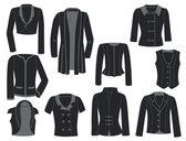 Women's jackets — Stock Vector