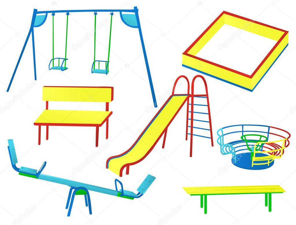 Игровая площадка рисовать