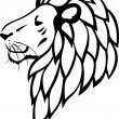 Vector de stock : Lion tattoo