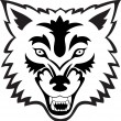Wolf face — Stock Vector